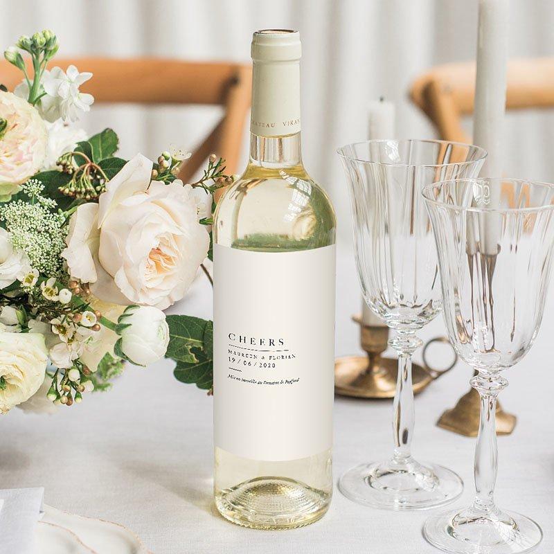 Etiket Voor Wijnfles Natuur Bruiloft