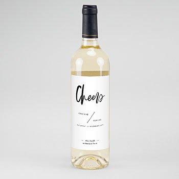 Etiket Voor Wijnfles - Brusch effect - 0