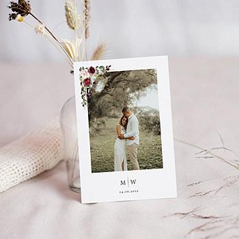 Bedankkaart huwelijk boheme - Marsala Kroon - 0