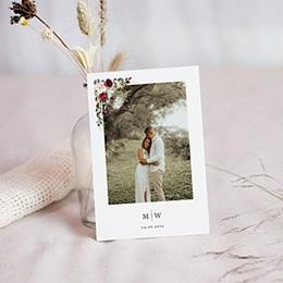 Bedankkaart huwelijk boheme Marsala Kroon