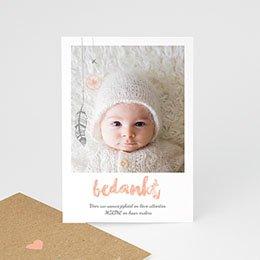 Bedankkaartje geboorte dochter Girly dromenvanger
