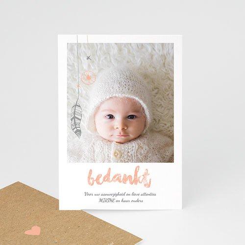 Bedankkaartje geboorte dochter - Girly dromenvanger 72225 thumb