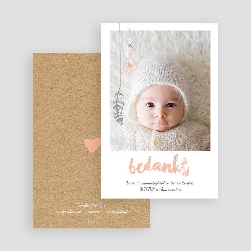 Bedankkaartje geboorte dochter - Girly dromenvanger 72227 thumb