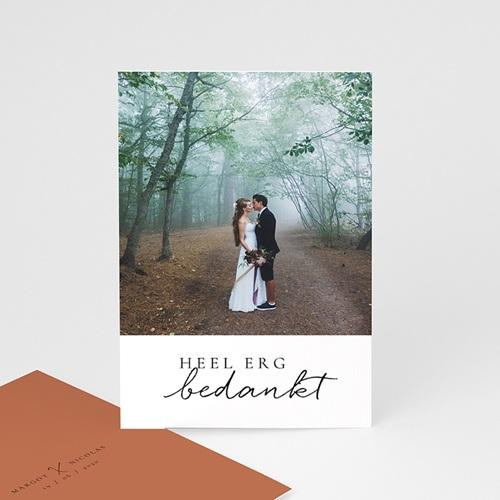 Bedankkaarten huwelijk met foto Cinnamomum