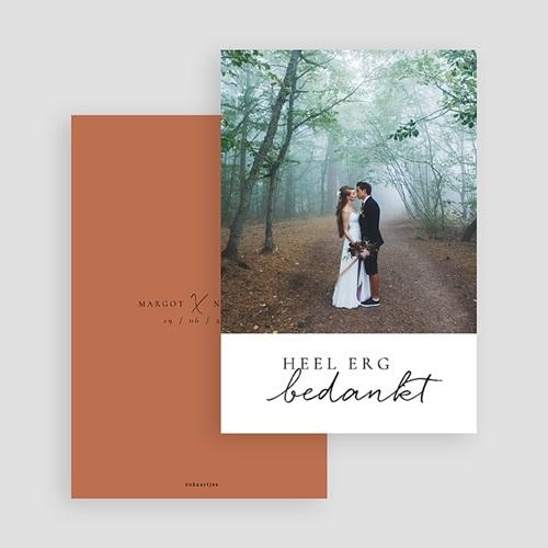Bedankkaarten huwelijk met foto Cinnamomum gratuit