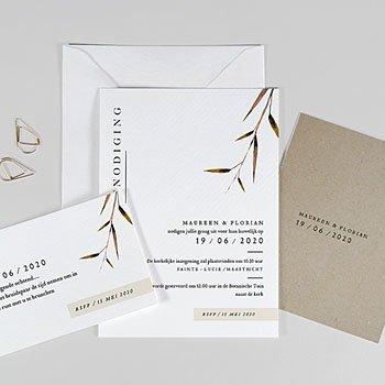 Landelijke trouwkaarten - Natuur Bruiloft - 0