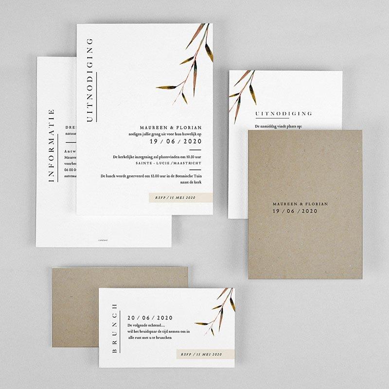 Landelijke trouwkaarten Natuur Bruiloft gratuit