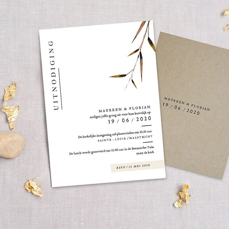 Landelijke trouwkaarten - Natuur Bruiloft 72285 thumb