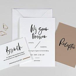 Creatieve trouwkaarten Brusch effect