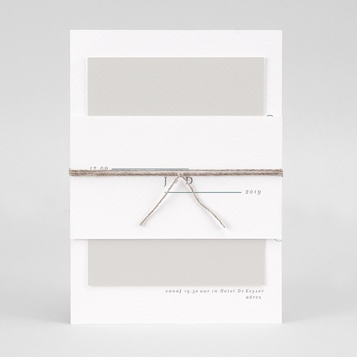 Trouwkaarten Minimalistisch - Eucalyptus 72324 thumb