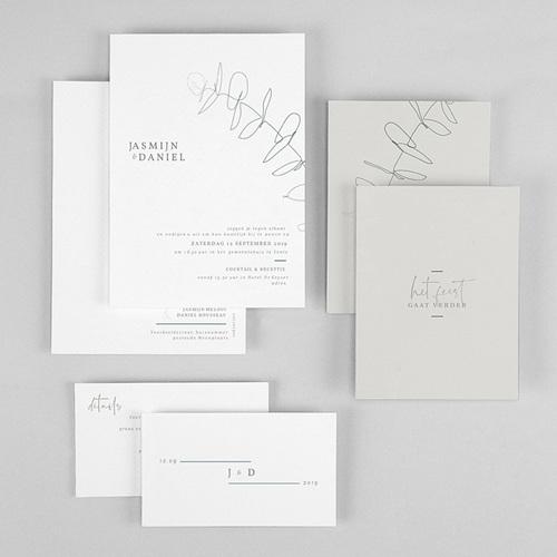 Trouwkaarten Minimalistisch - Eucalyptus 72325 thumb