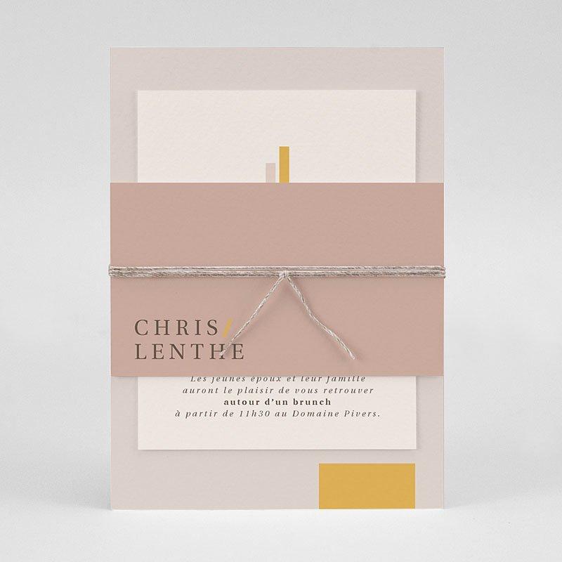 Trouwkaarten Minimalistisch - Blush & Gold 72339 thumb
