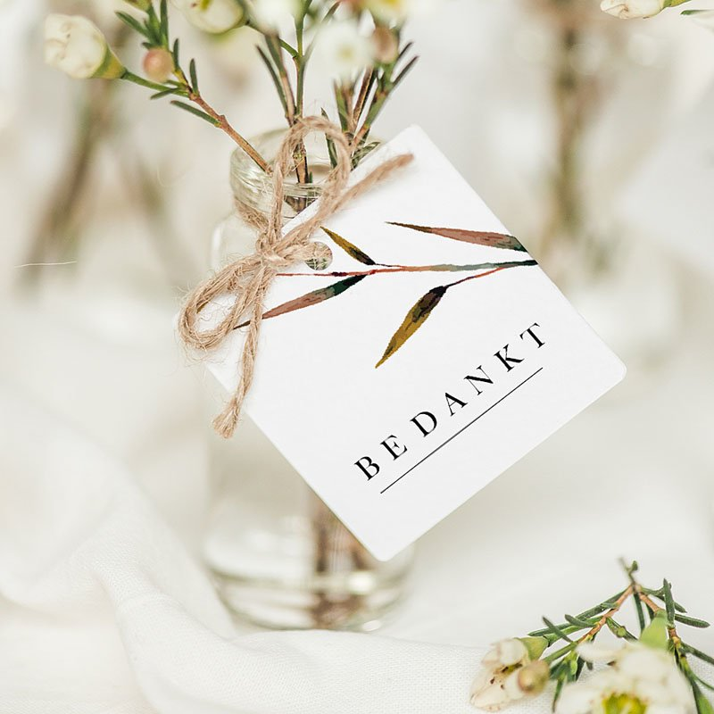 Etiket huwelijk Natuur Bruiloft
