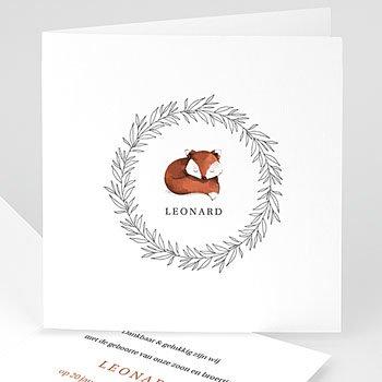 Klassieke geboortekaartjes - Foxy - 0