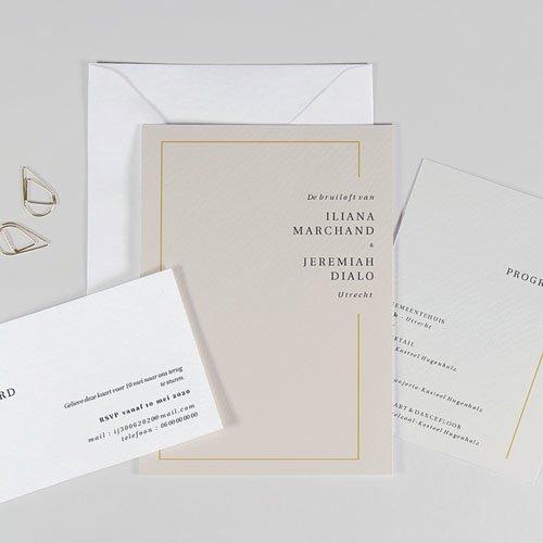 Trouwkaarten Minimalistisch - Golden Frame 72546 thumb