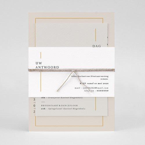 Trouwkaarten Minimalistisch - Golden Frame 72547 thumb