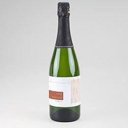 Etiket voor Champagnefles Terracotta