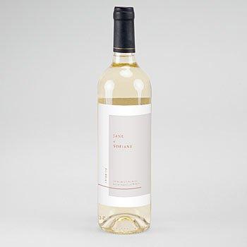 Etiket Voor Wijnfles - Terracotta - 0