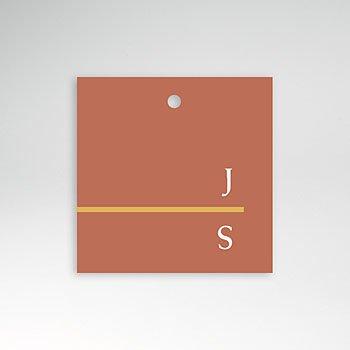 Etiket huwelijk - Terracotta - 0