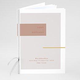 Boekomslag voor kerkboekje Terracotta