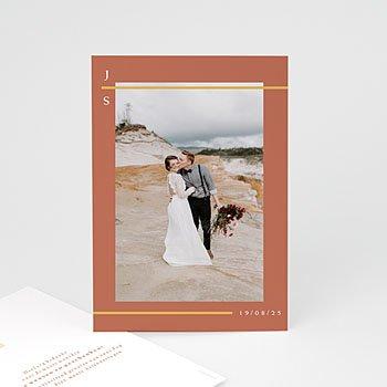 Bedankkaart huwelijk boheme - Terracotta - 0