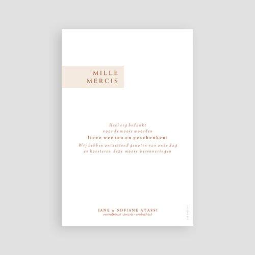 Bedankkaart huwelijk boheme - Terracotta 72642 thumb
