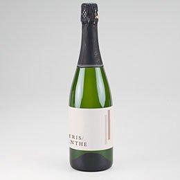 Etiket voor Champagnefles Blush Trio
