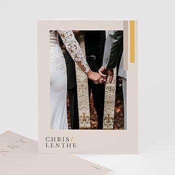 Chique bedankkaartjes huwelijk - Blush & Gold - 0