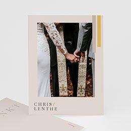 Chique bedankkaartjes huwelijk Blush & Gold