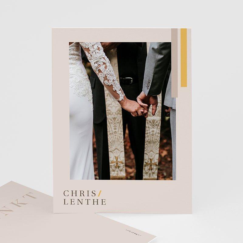 Chique bedankkaartjes huwelijk - Blush & Gold 72759 thumb