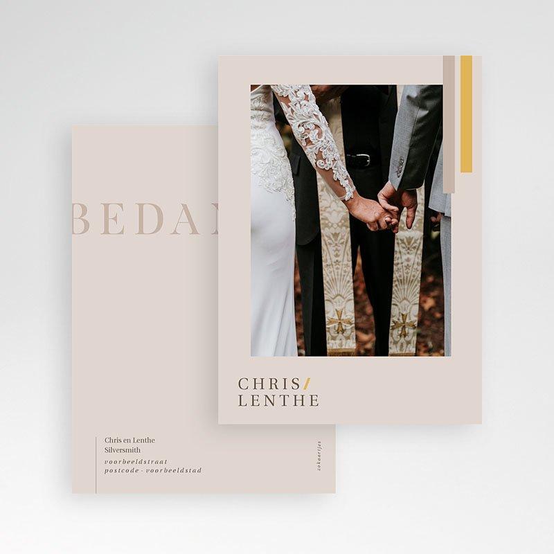 Chique bedankkaartjes huwelijk - Blush & Gold 72760 thumb