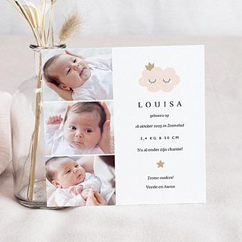 Geboortekaartjes met foto Little Cloud