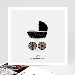 Aankondiging Geboorte Retro Kinderwagen