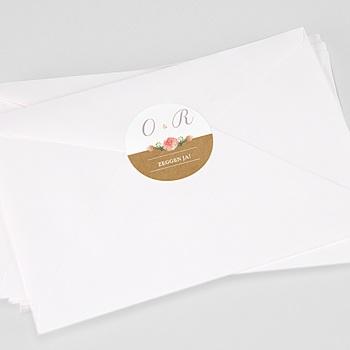 Stickers Huwelijk Roze bloemenkrans