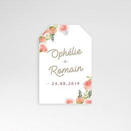 Foto-sticker Huwelijk Roze bloemenkrans