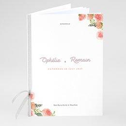 Boekomslag voor kerkboekje Roze bloemenkrans