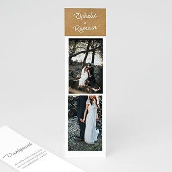 Bedankkaart huwelijk landelijk - Roze bloemenkrans - 0