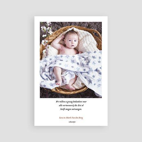 Bedankkaartje geboorte dochter - Retro kinderwagen 73008 thumb