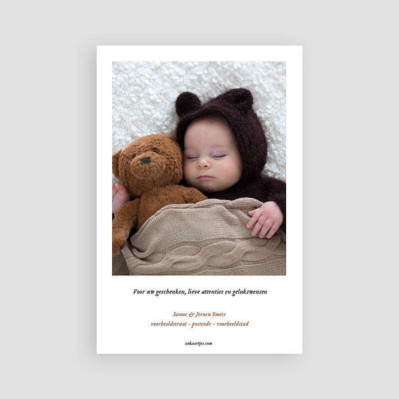 Bedankkaartje geboorte zoon Pedaal auto pas cher