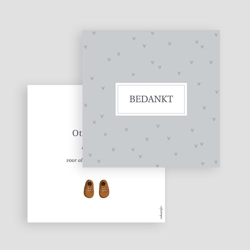 Bedankkaartje geboorte zoon - Baby Shoes 73090 thumb