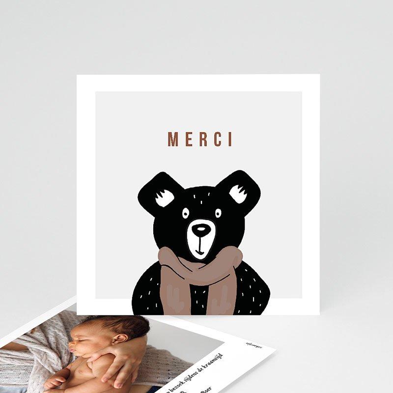 Bedankkaarten geboorte dierenmotief - Teddybeer 73118 thumb
