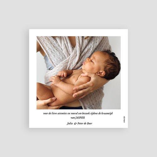 Bedankkaarten geboorte dierenmotief - Teddybeer 73119 thumb