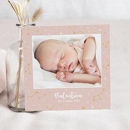 Aankondiging Geboorte Nachthemel Roze (Groot Formaat)