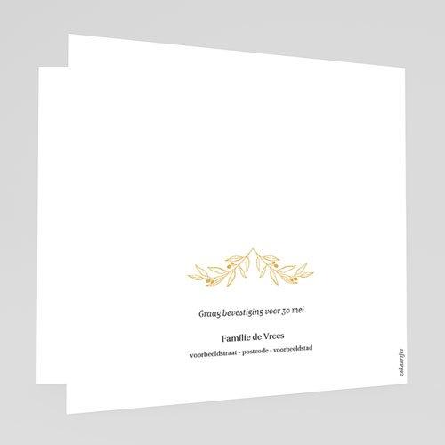 Uitnodiging doopsel jongen of meisje Heilige Takken gratuit