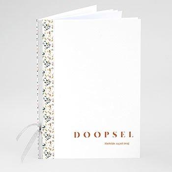 Boekomslag voor doopboekjes - Vintage Flower - 0