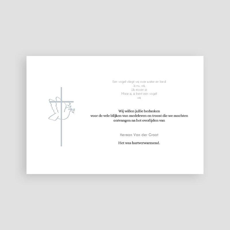 Bedankkaarten overlijden, Christelijk - Met vrede heen 73329 thumb
