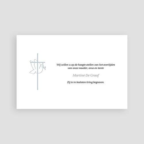 Bedankkaarten overlijden, Christelijk Met vrede heen pas cher