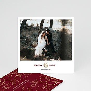 Bedankkaarten huwelijk - BOHEEMSE MARSALA - 0