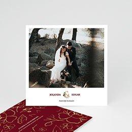 Bedankkaarten huwelijk BOHEEMSE MARSALA