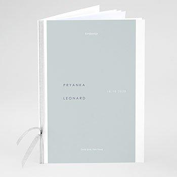 Boekomslag voor kerkboekje - Mineraalblauw - 0